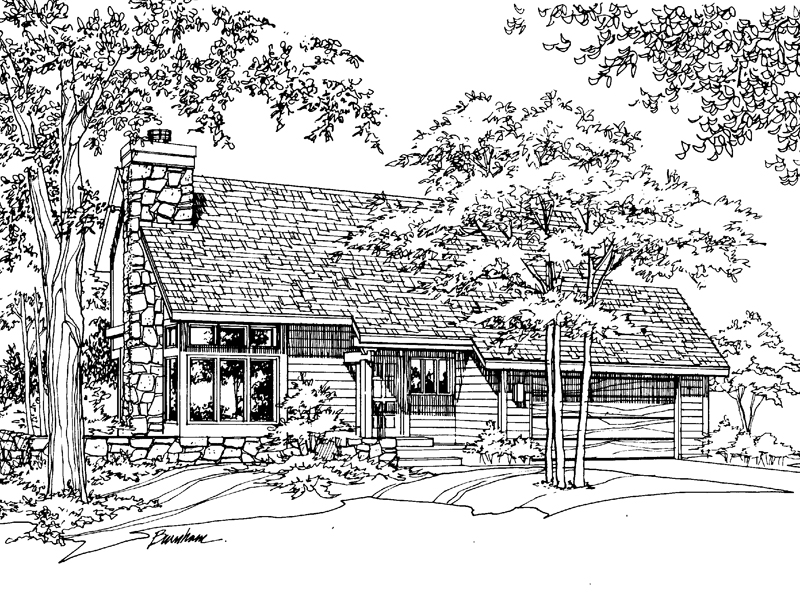 Country House Plan Front of Home - 072D-0193 | House Plans and More