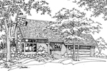 Southern House Plan Front of Home - 072D-0193 | House Plans and More