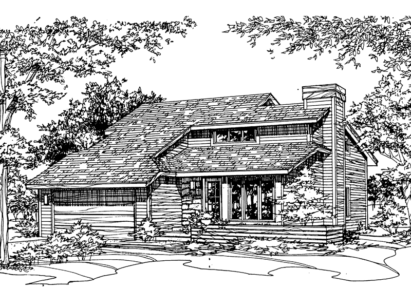 Contemporary House Plan Front of Home - 072D-0194 | House Plans and More