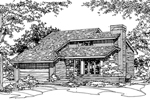 Traditional House Plan Front of Home - 072D-0194 | House Plans and More