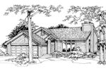 Modern House Plan Front of Home - 072D-0195 | House Plans and More
