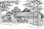 Ranch House Plan Front of Home - 072D-0196 | House Plans and More