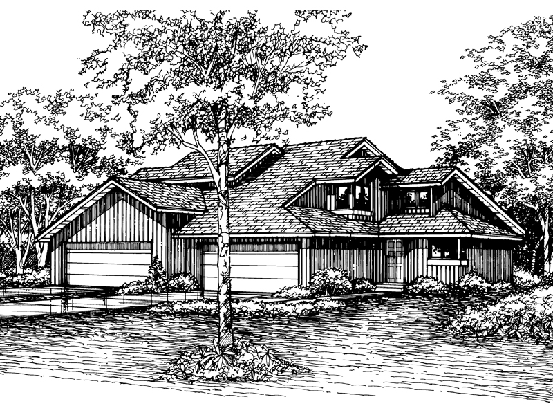 Modern House Plan Front of Home - 072D-0197 | House Plans and More