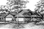 Contemporary House Plan Front of Home - 072D-0197 | House Plans and More
