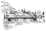 Country House Plan Front of Home - 072D-0198 | House Plans and More