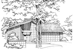 Traditional House Plan Front of Home - 072D-0205 | House Plans and More