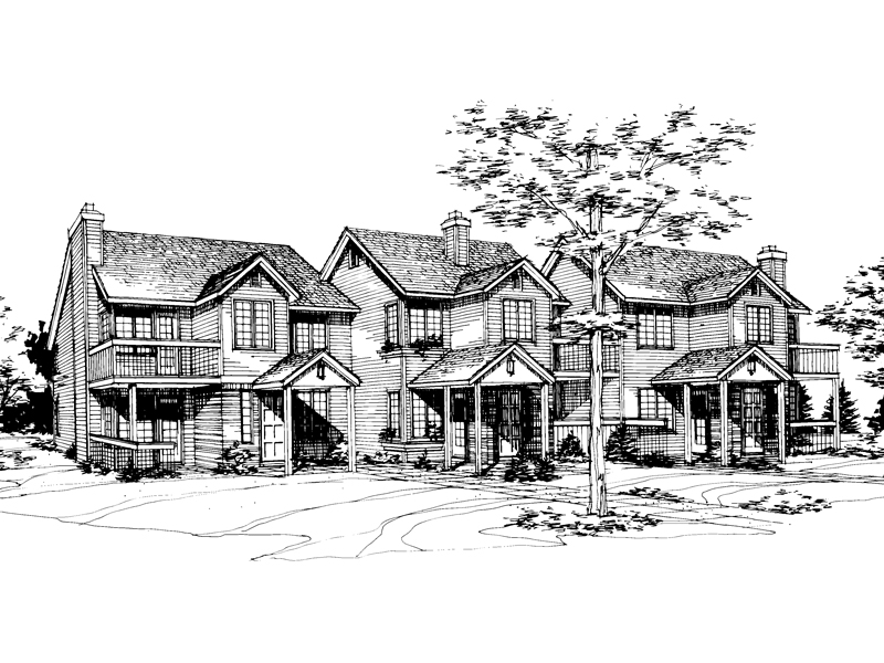 Contemporary House Plan Front of Home - 072D-0219 | House Plans and More