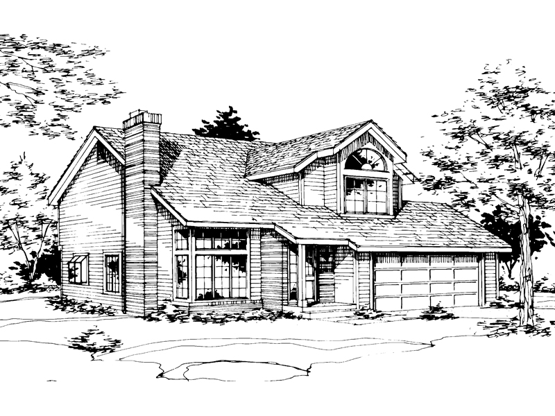 Traditional House Plan Front of Home - 072D-0223 | House Plans and More
