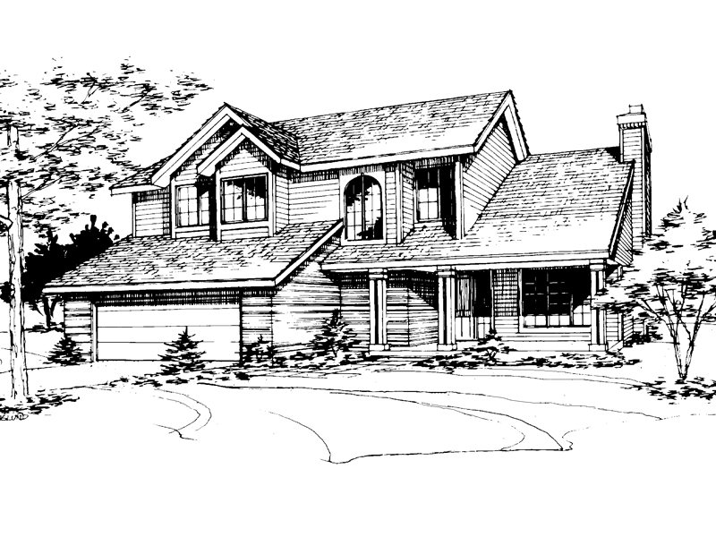 Modern House Plan Front of Home - 072D-0229 | House Plans and More