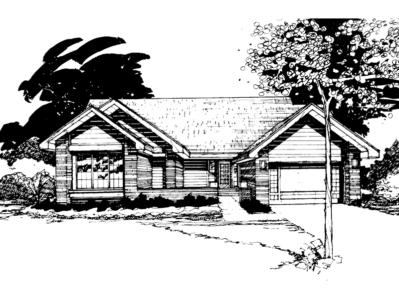 Traditional House Plan Front of Home - 072D-0242 | House Plans and More