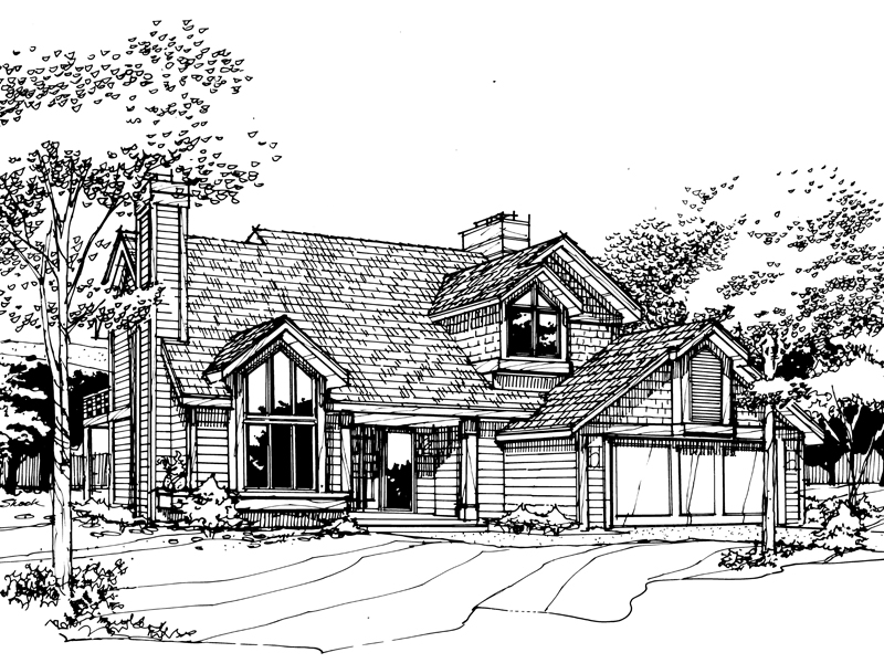 Traditional House Plan Front of Home - 072D-0253 | House Plans and More