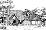 Contemporary House Plan Front of Home - 072D-0253 | House Plans and More