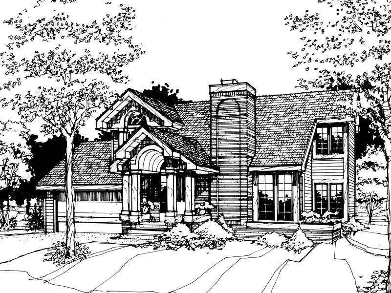 Bungalow House Plan Front of Home - 072D-0255 | House Plans and More
