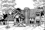 Contemporary House Plan Front of Home - 072D-0255 | House Plans and More
