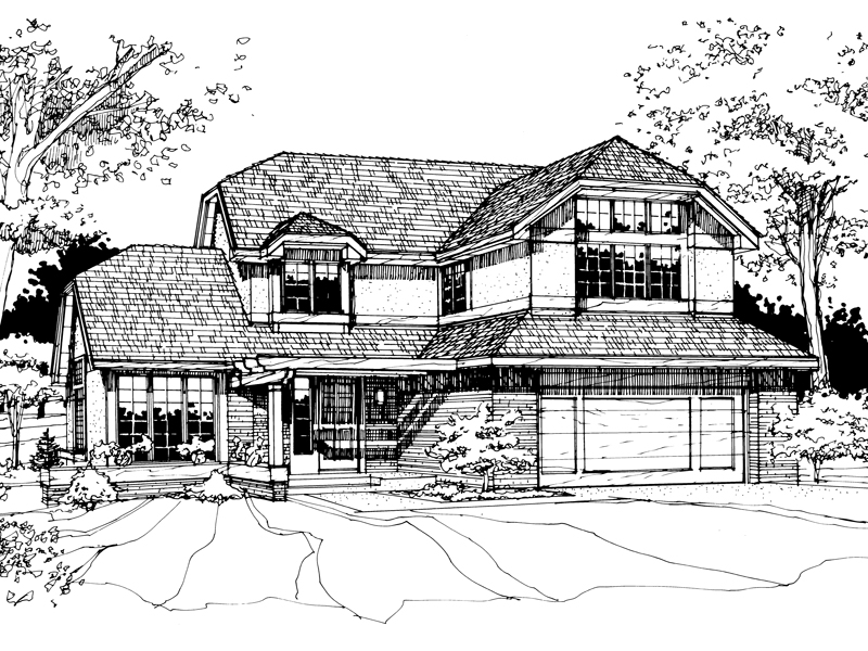 Country House Plan Front of Home - 072D-0256 | House Plans and More