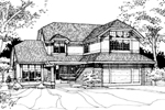 Contemporary House Plan Front of Home - 072D-0256 | House Plans and More