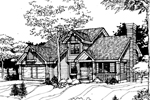 Rustic Home Plan Front of Home - 072D-0257 | House Plans and More