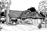 Modern House Plan Front of Home - 072D-0258 | House Plans and More