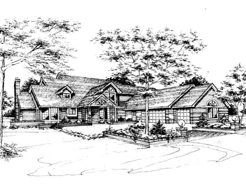 Southern House Plan Front of Home - 072D-0259 | House Plans and More