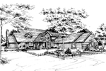 Traditional House Plan Front of Home - 072D-0259 | House Plans and More