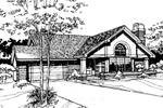 Ranch House Plan Front of Home - 072D-0260 | House Plans and More
