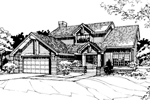 Contemporary House Plan Front of Home - 072D-0261 | House Plans and More