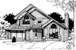 Traditional House Plan Front of Home - 072D-0262 | House Plans and More