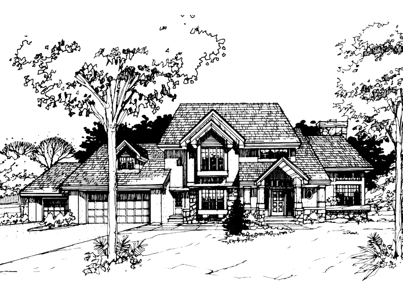 Traditional House Plan Front of Home - 072D-0263 | House Plans and More
