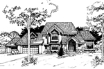 Arts and Crafts House Plan Front of Home - 072D-0263 | House Plans and More
