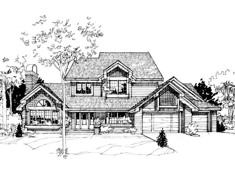 Traditional House Plan Front of Home - 072D-0265 | House Plans and More