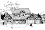 Farmhouse Plan Front of Home - 072D-0265 | House Plans and More
