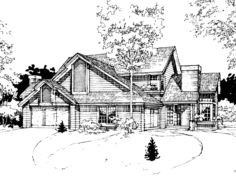 Traditional House Plan Front of Home - 072D-0266 | House Plans and More