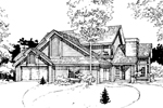 Modern House Plan Front of Home - 072D-0266 | House Plans and More