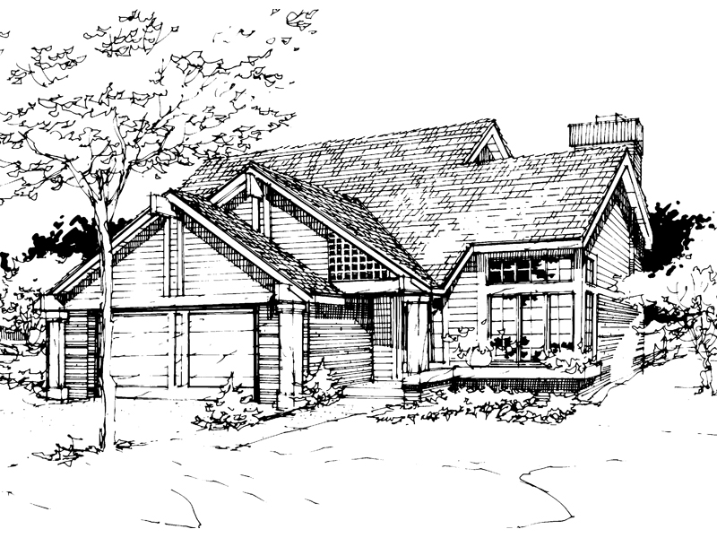 Modern House Plan Front of Home - 072D-0267 | House Plans and More