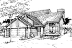 Contemporary House Plan Front of Home - 072D-0267 | House Plans and More