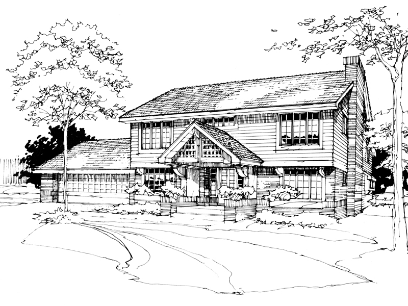 Southern House Plan Front of Home - 072D-0268 | House Plans and More