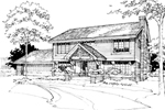 Traditional House Plan Front of Home - 072D-0268 | House Plans and More