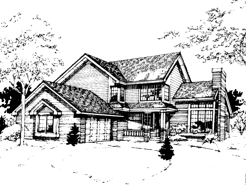 Traditional House Plan Front of Home - 072D-0269 | House Plans and More