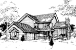 Modern House Plan Front of Home - 072D-0269 | House Plans and More