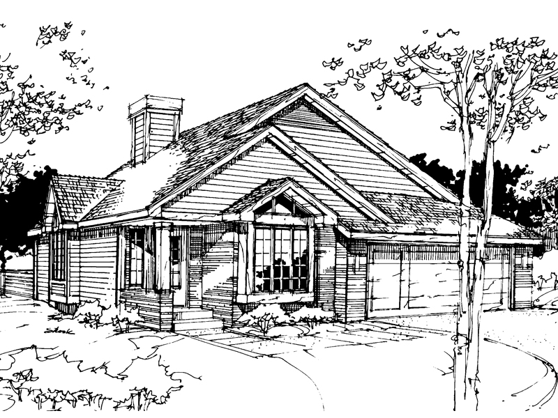 Modern House Plan Front of Home - 072D-0270 | House Plans and More