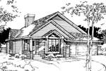 Ranch House Plan Front of Home - 072D-0270 | House Plans and More