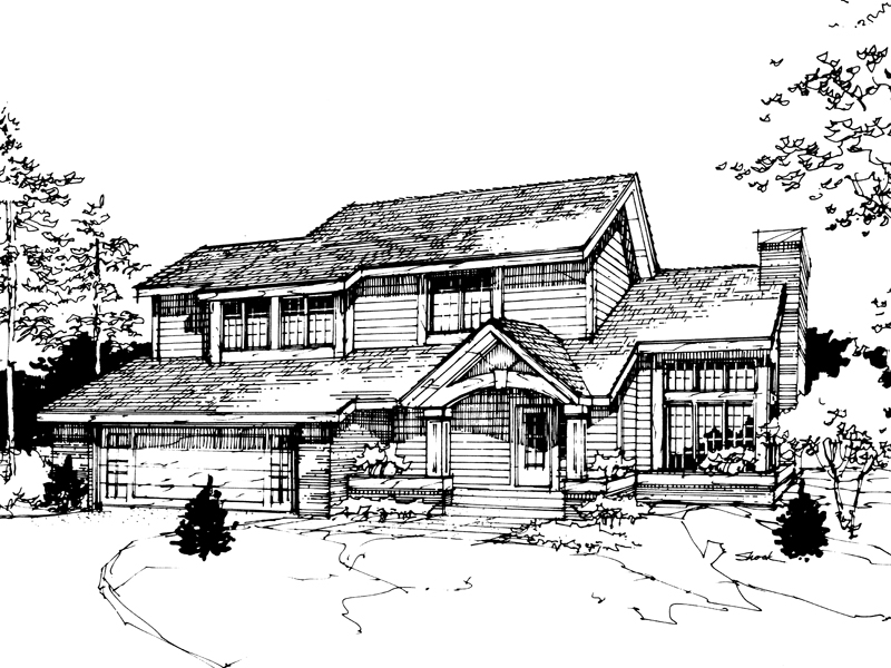 Country House Plan Front of Home - 072D-0271 | House Plans and More