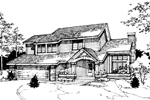 Contemporary House Plan Front of Home - 072D-0271 | House Plans and More