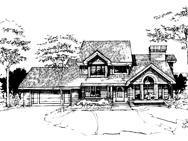 Southern House Plan Front of Home - 072D-0272 | House Plans and More