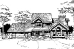 Rustic Home Plan Front of Home - 072D-0272 | House Plans and More