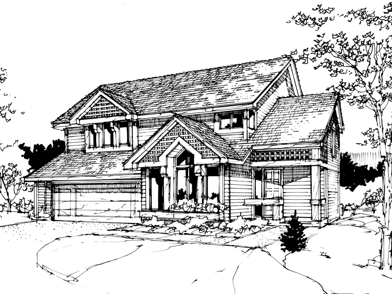 Traditional House Plan Front of Home - 072D-0273 | House Plans and More
