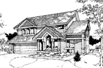 Contemporary House Plan Front of Home - 072D-0273 | House Plans and More
