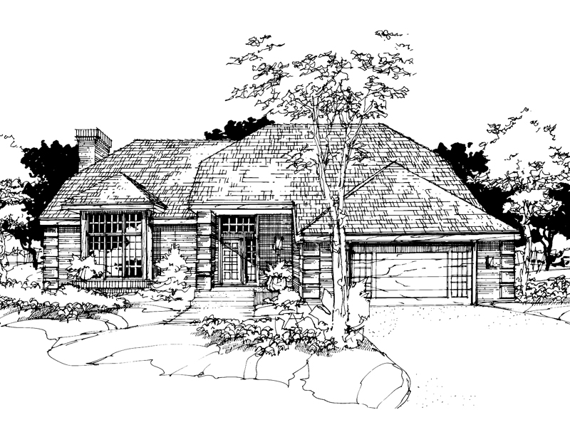 European House Plan Front of Home - 072D-0275 | House Plans and More