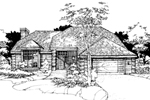 Contemporary House Plan Front of Home - 072D-0275 | House Plans and More