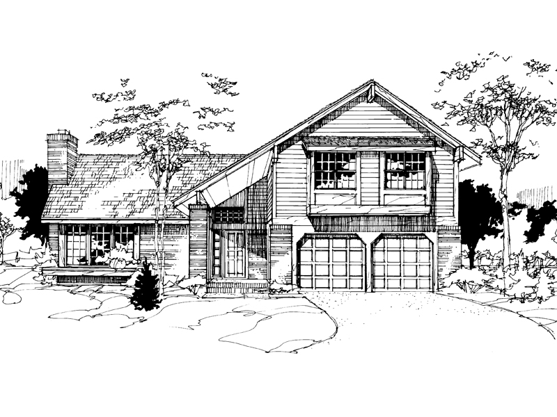 Modern House Plan Front of Home - 072D-0276 | House Plans and More